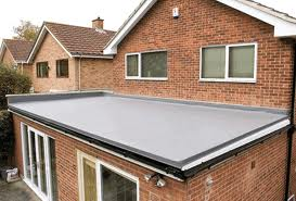 A nicely finished flat roof.